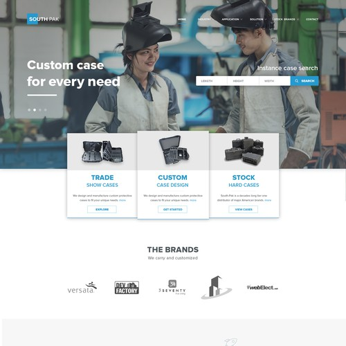 Manufacturing Firm - Landing Page Design