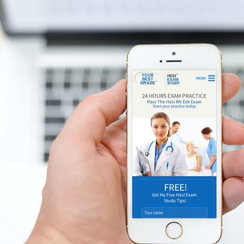 Mobile Web Page - Medical Exam Practice