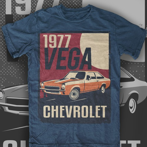 Vintage Automotive Poster T-shirt design