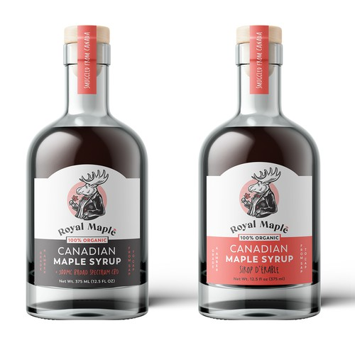 Logo and packaging for maple products company