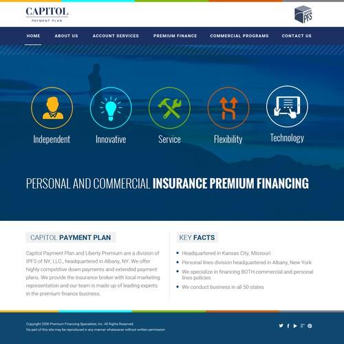 Insurance premium financing website