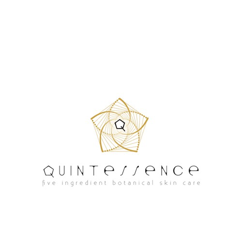 Sharp Geometric Logo for Botanical Skin Care Line