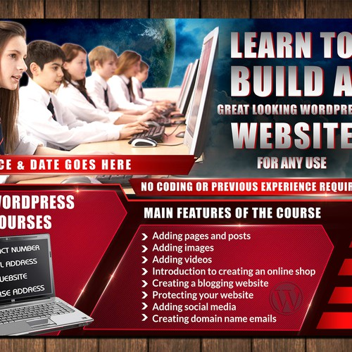 A5 Website Course flyer - no back required