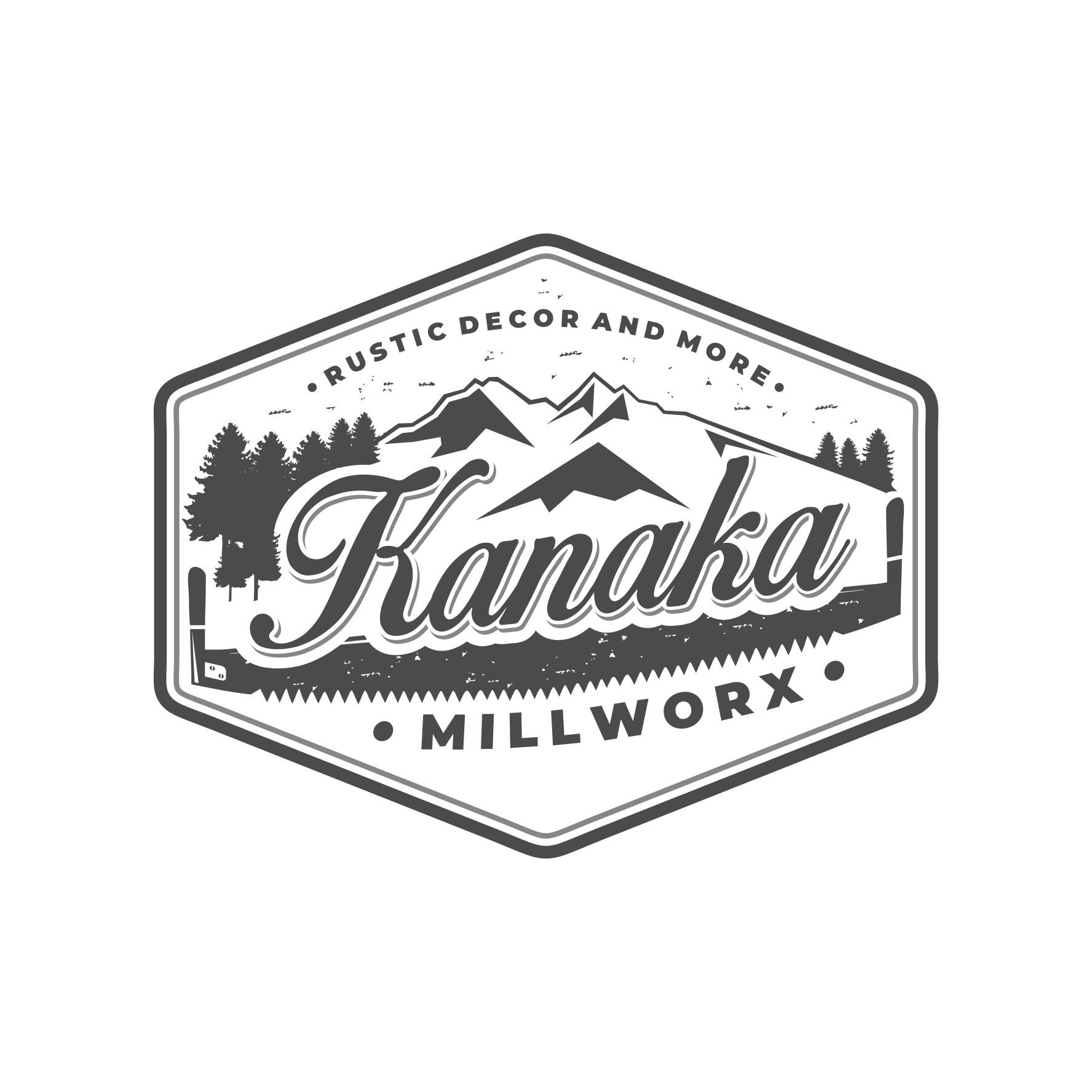 Create a vintage rustic millworking logo !
