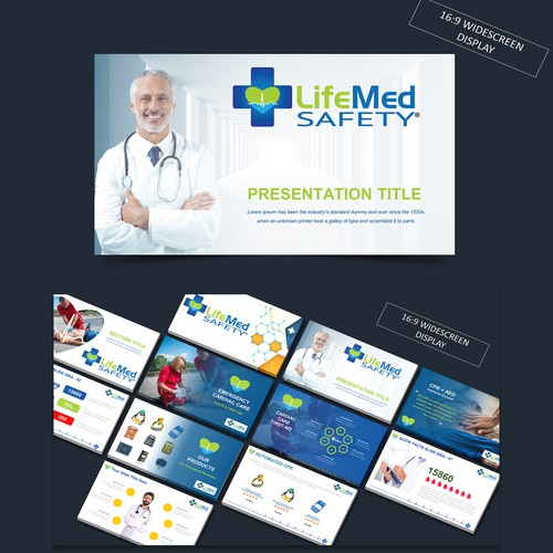 PPT Template for Life Saving Company