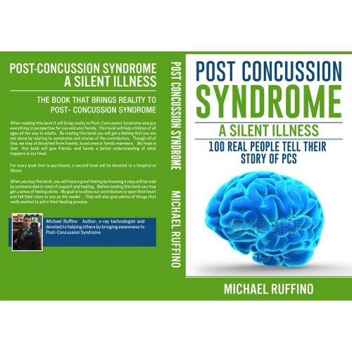 Creating a book cover for to educate people on Post Concussion Syndrome
