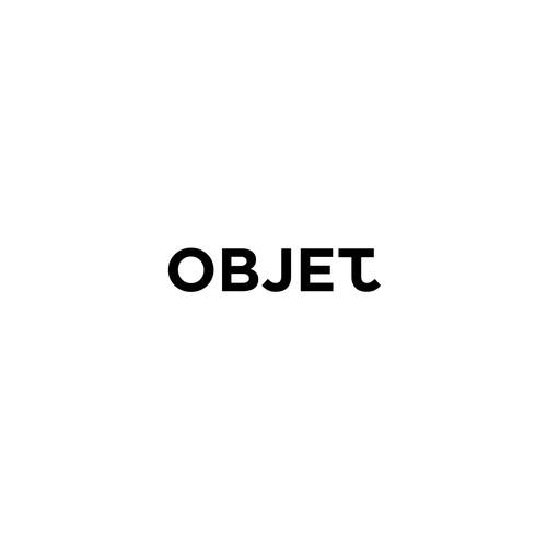 Minimal and bold logo for OBJET