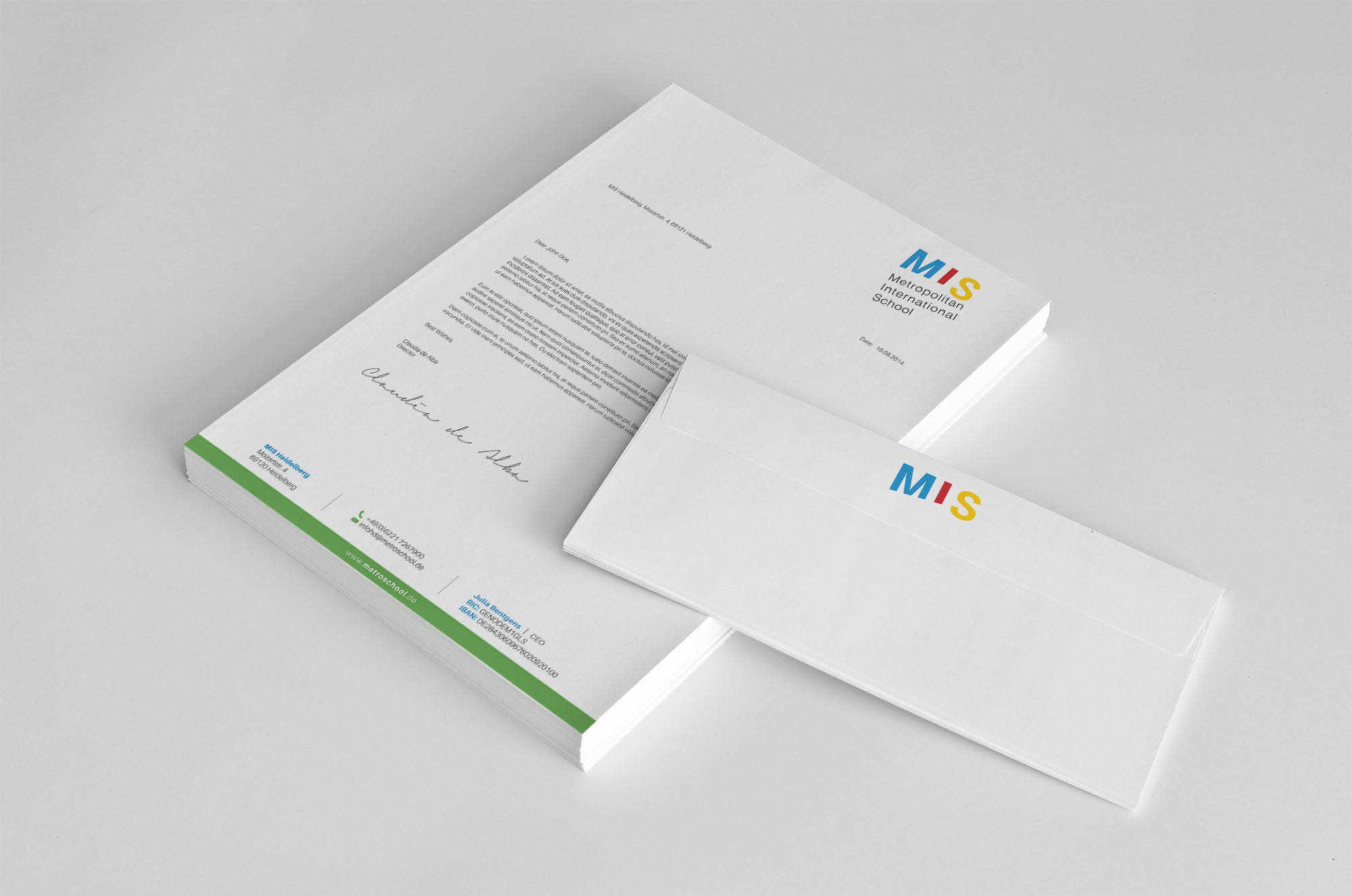Design a very professional looking letterhead