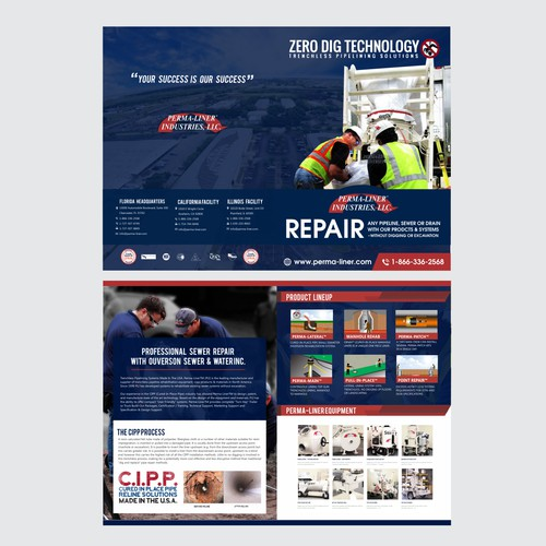 Brochure design for perma-liner.com