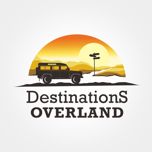 Design logo concept for Destination overland