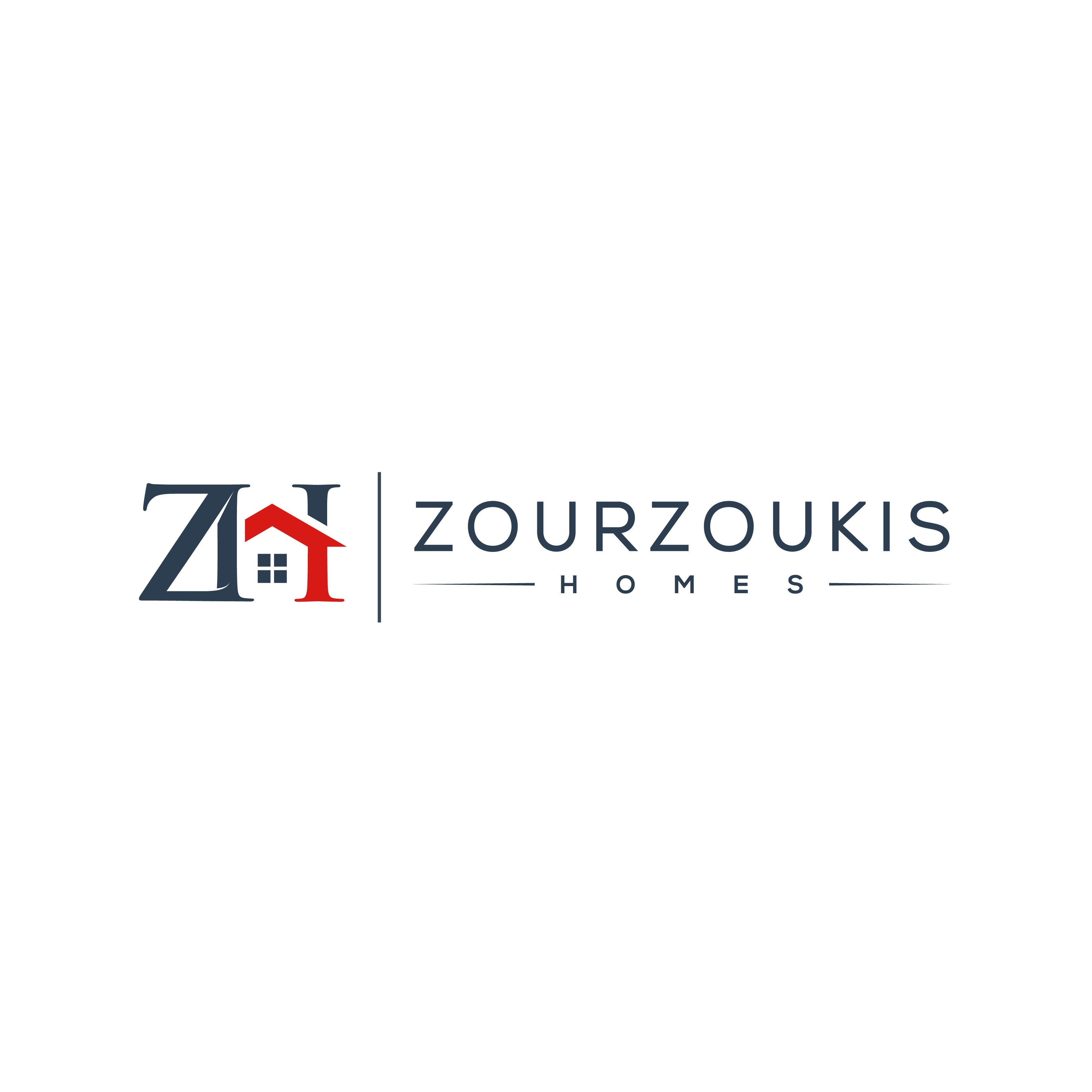 """Homebuilder Logo with Challenging Name """"Zourzoukis Homes"""""""