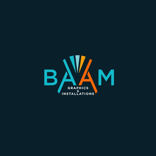Logo concept for BAAM Graphics & Installation