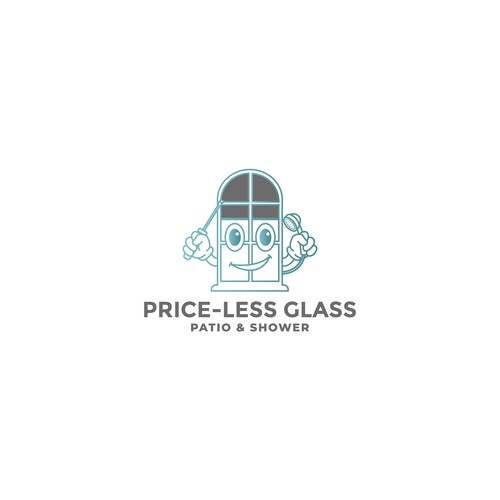 Logo concept for PRICE-LESS GLASS