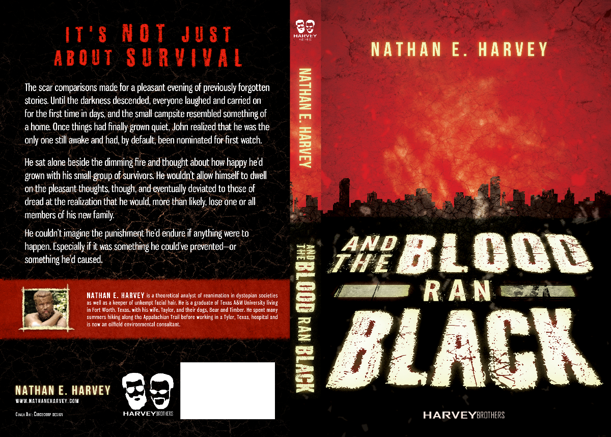 """""""And the Blood Ran Black""""   cover back"""
