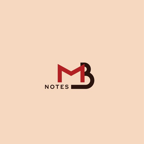 Typographic logo for MB notes