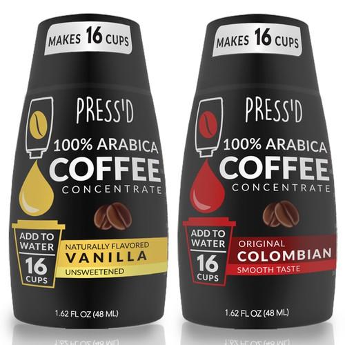 Coffee concentrate label design