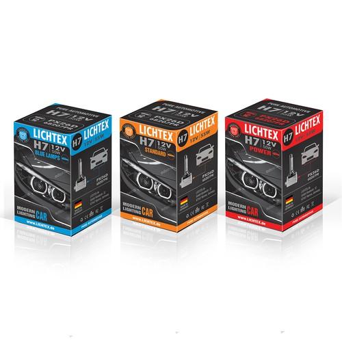 Box Package design for LICHTEX