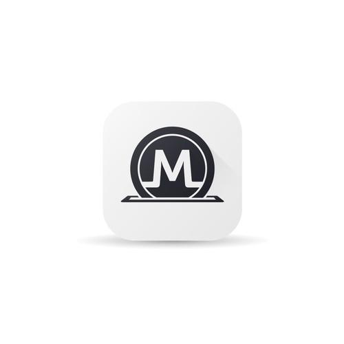 Clean Monetal app icon design