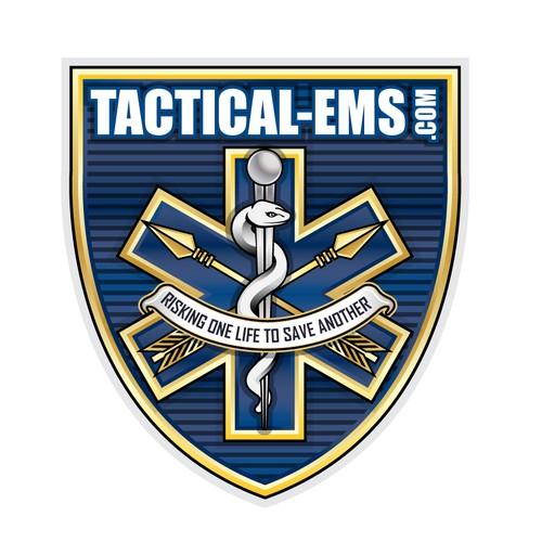 Modern medical logo for Tactical-EMS company
