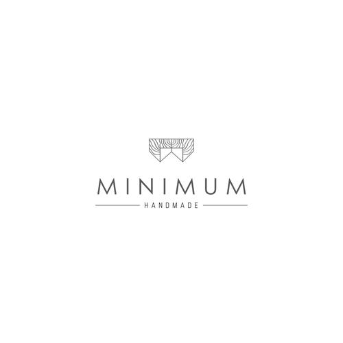 clean and modern logo for MINIMUM Handmade