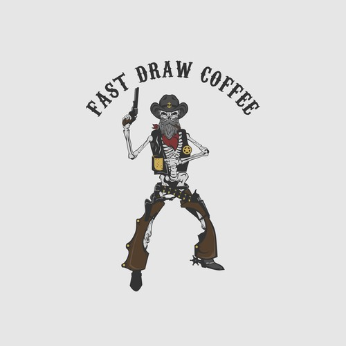 "Old West ""Salty"" for Fast Draw Coffee"