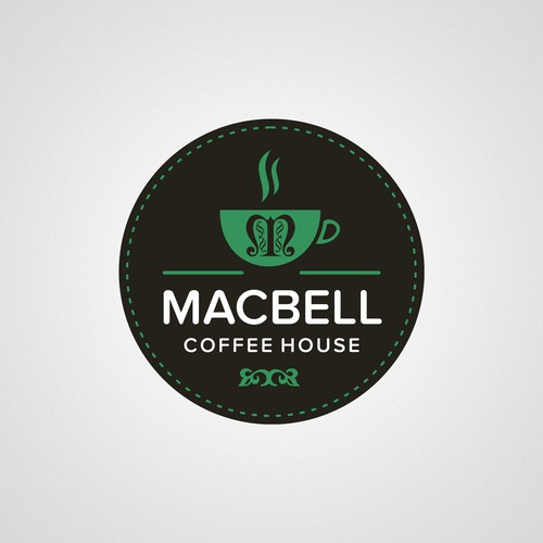 Create a drive thru cafe logo design