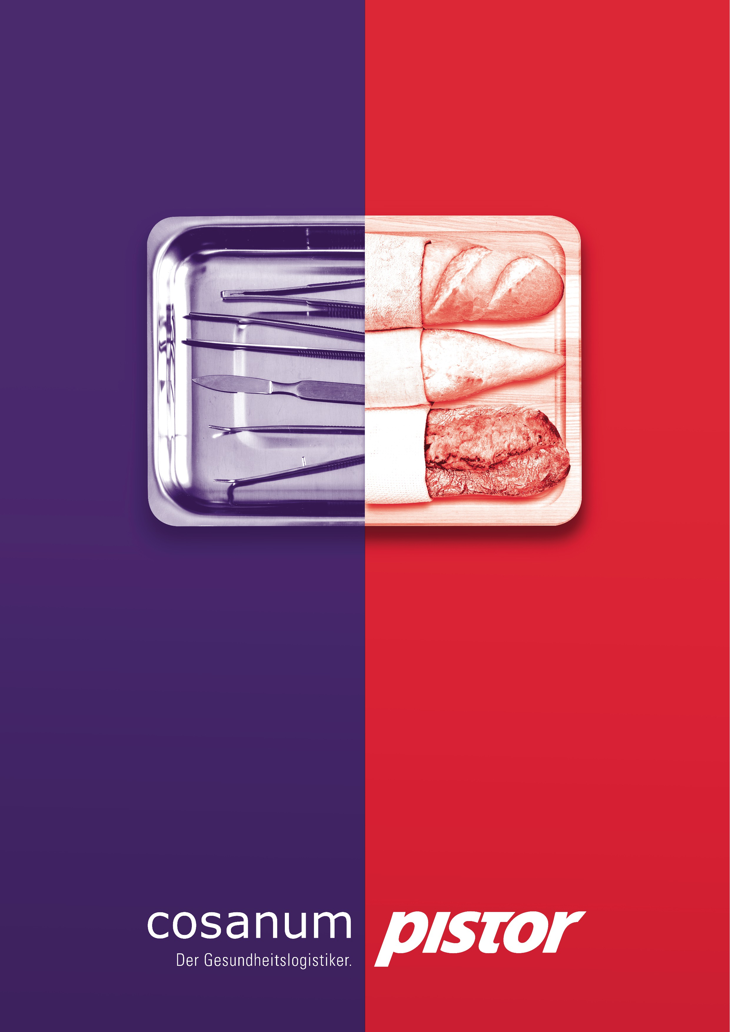 Graphic/Signet: Visual Fusion of the products Cosanum and Pistor