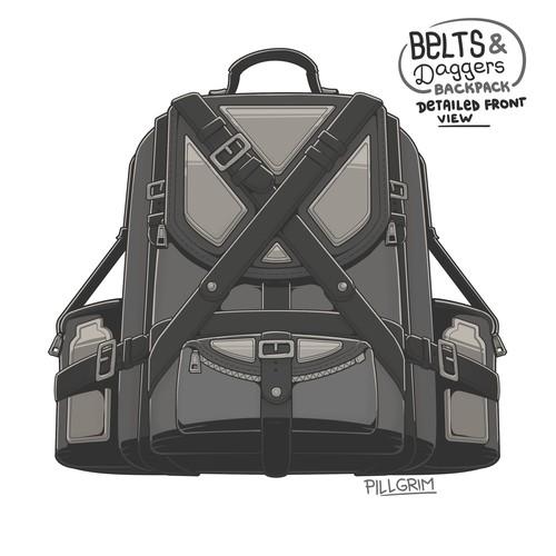 [PILLustration] Belts & Daggers Backpack