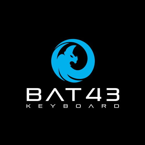 Bat43 logo design