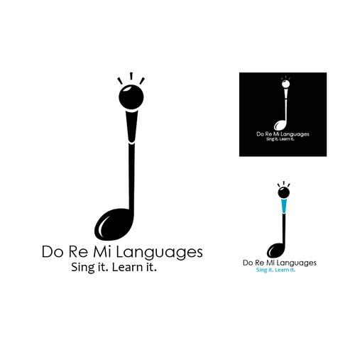 Create a logo for a teaching languages through songs