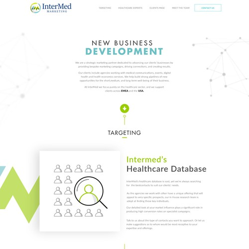Business development website.