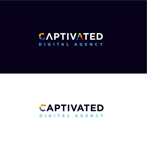 Logo design concept for a digital agency