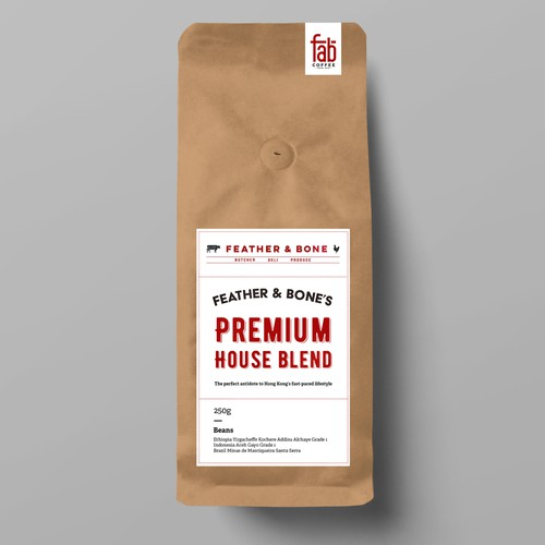 Coffee Bag Label Concept Design