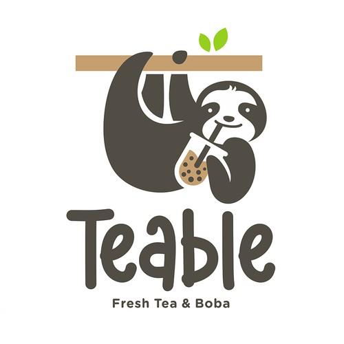 Mascot Logo for Boba Tea Shop