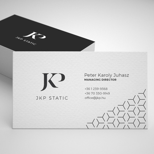 Clean, modernized logo for JKP Static