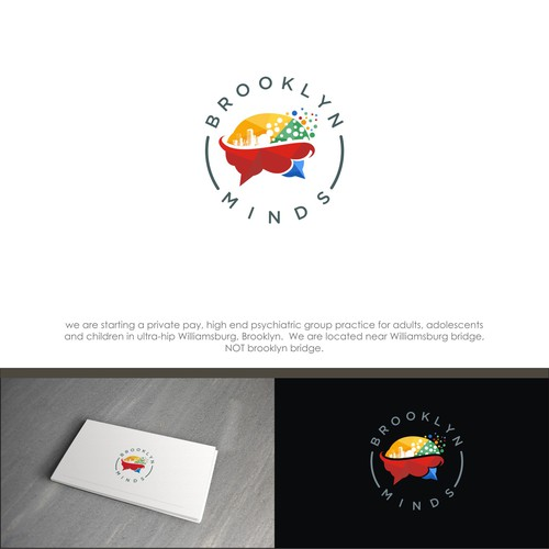 "Logo and brand ""brooklyn mind"""