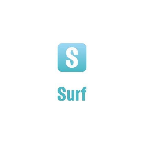 bold logo for surf