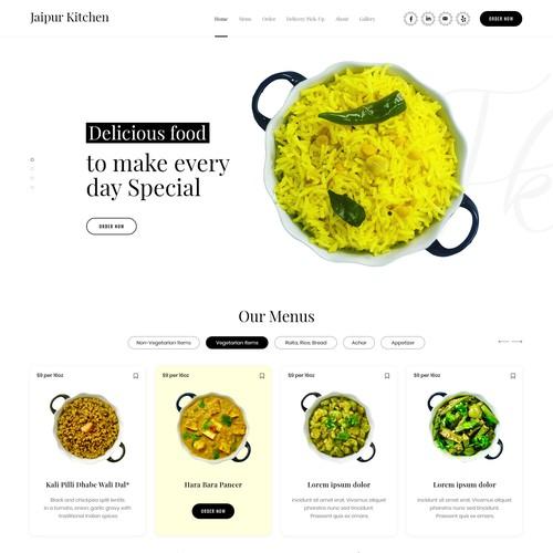 Fresh and White Kitechen Website
