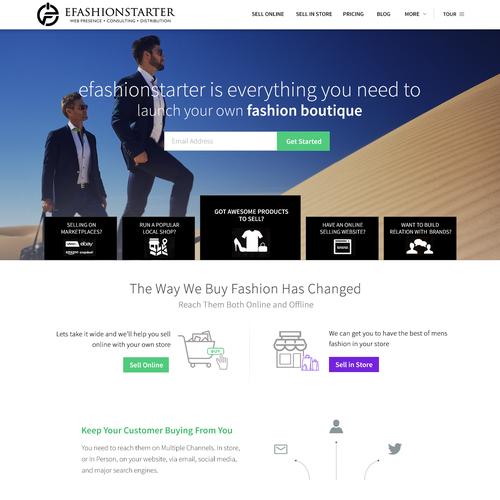 Alluring webdesign for luxury digital marketing agency