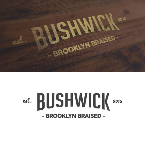 Hipster logo for Brooklyn brand