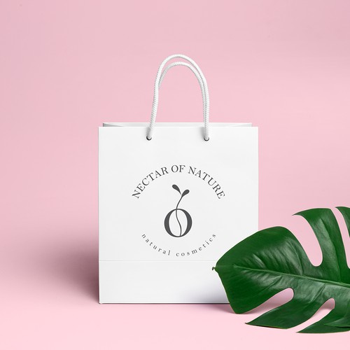 Logo concept for natural cosmetics brand
