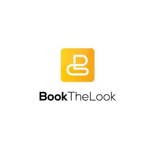 Book The Look logo concept