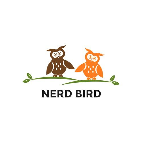 Design a logo for nerd bird