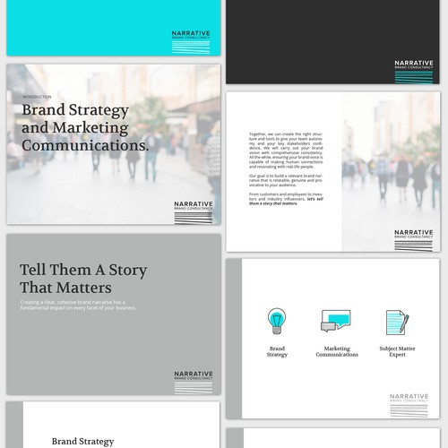 Crisp Powerpoint Template for LA-Based Brand Strategy Consultantcy