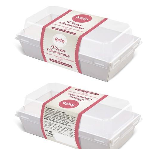 label for Keto cake