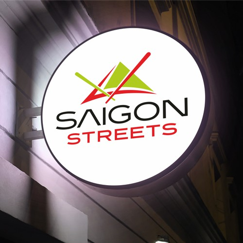 Modern logo for Vietnamese street food restaurant