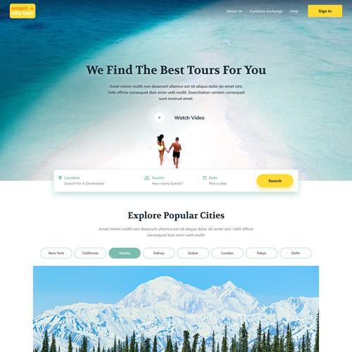 Smart City Tour Travel Guide Website