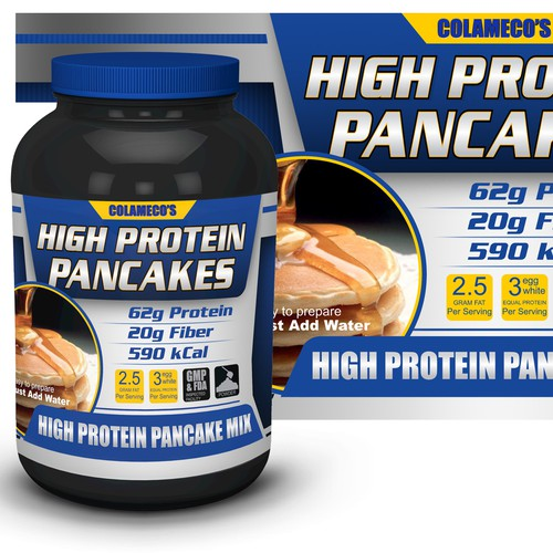 Create Packaging for a sports nutrition foods product. (Think protein powder tub)
