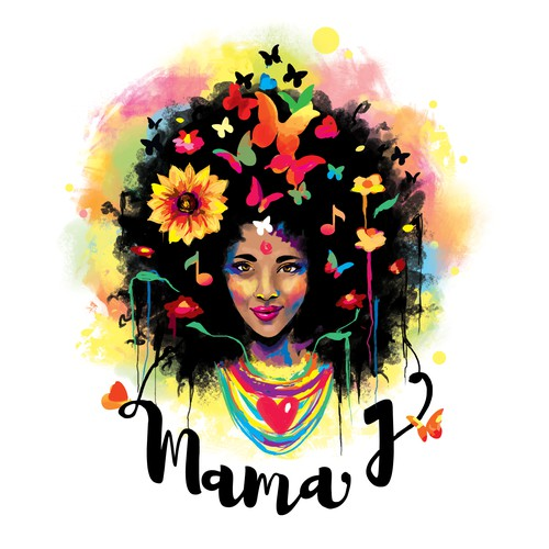 Logo for a jazz singer Mama J