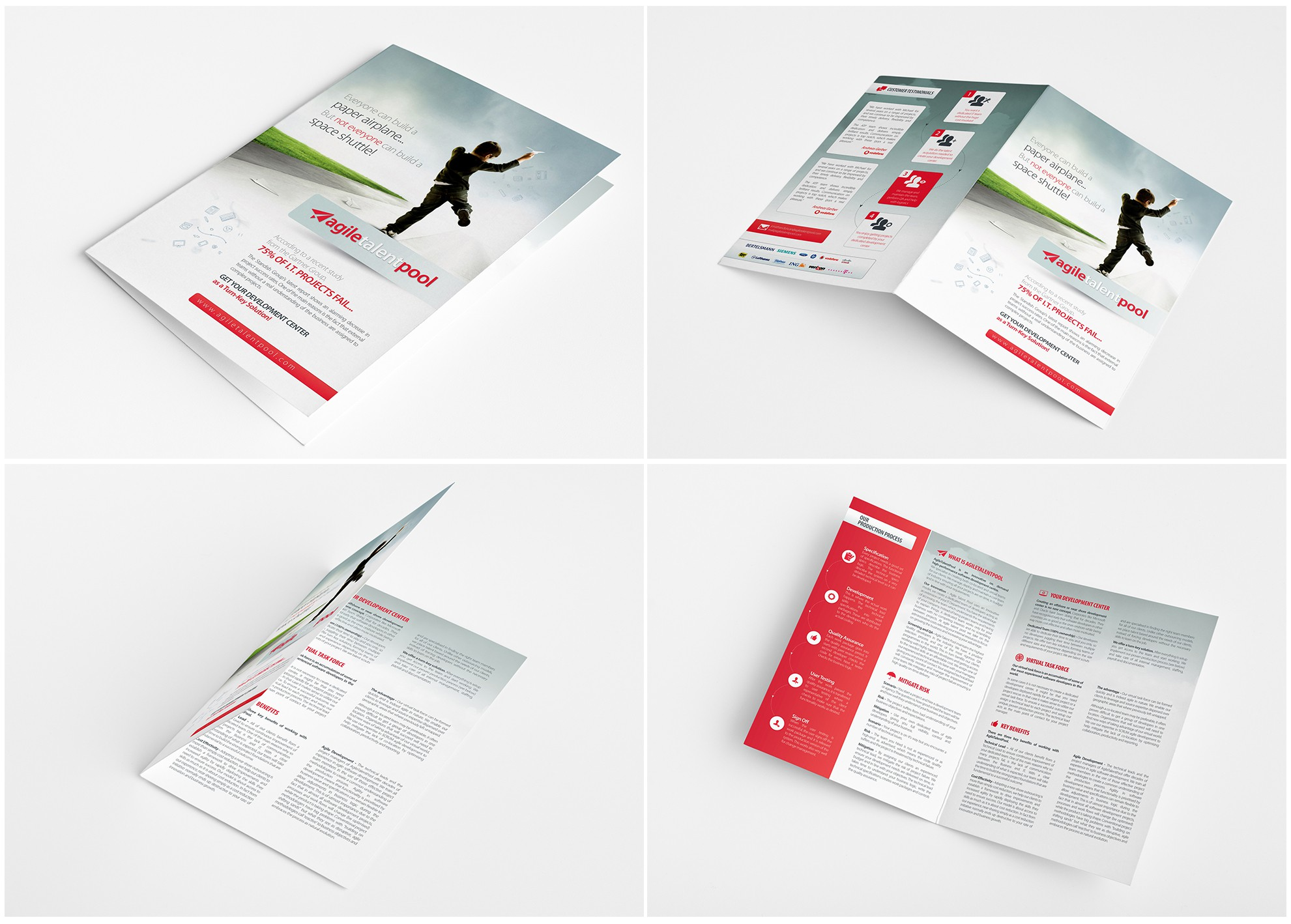 New brochure design wanted for Agile Talent Pool